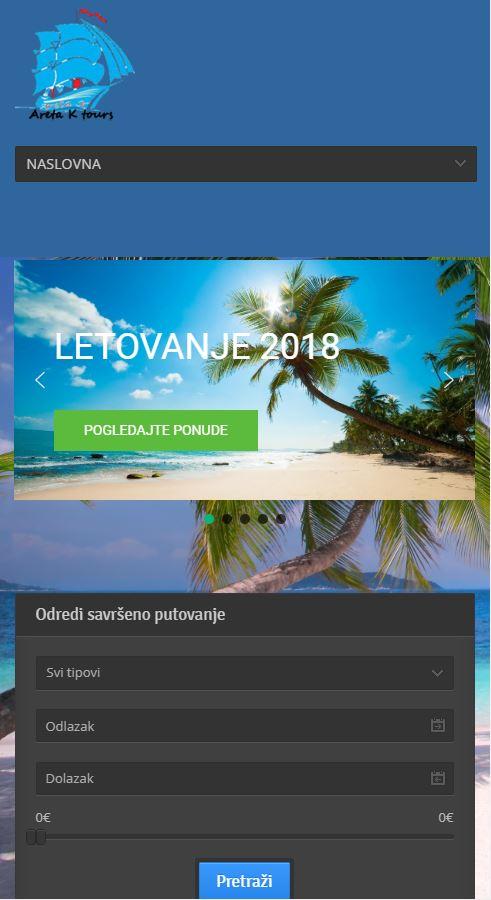 izrada sajta turisticka organizacija