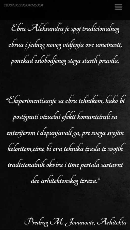 izrada sajta ebru kragujevac