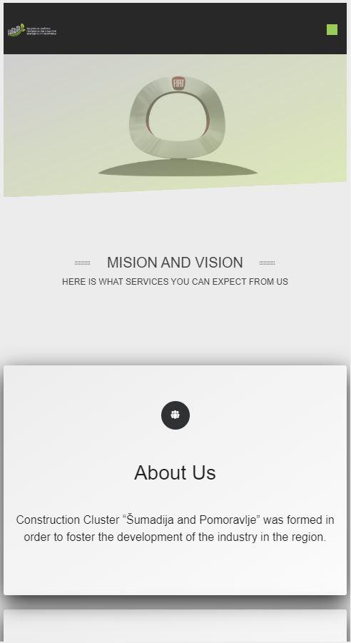 izrada sajta gradjevinski klaster kragujevac