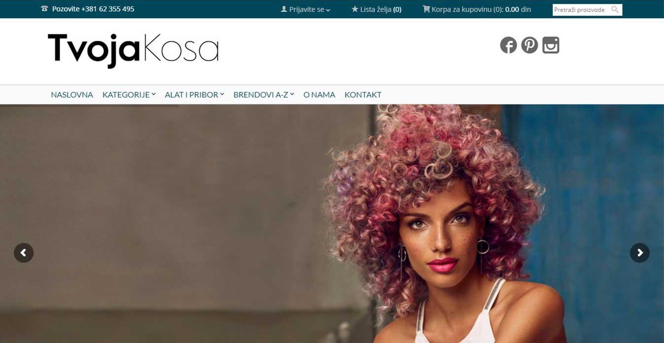 izrada sajta tvoja kosa