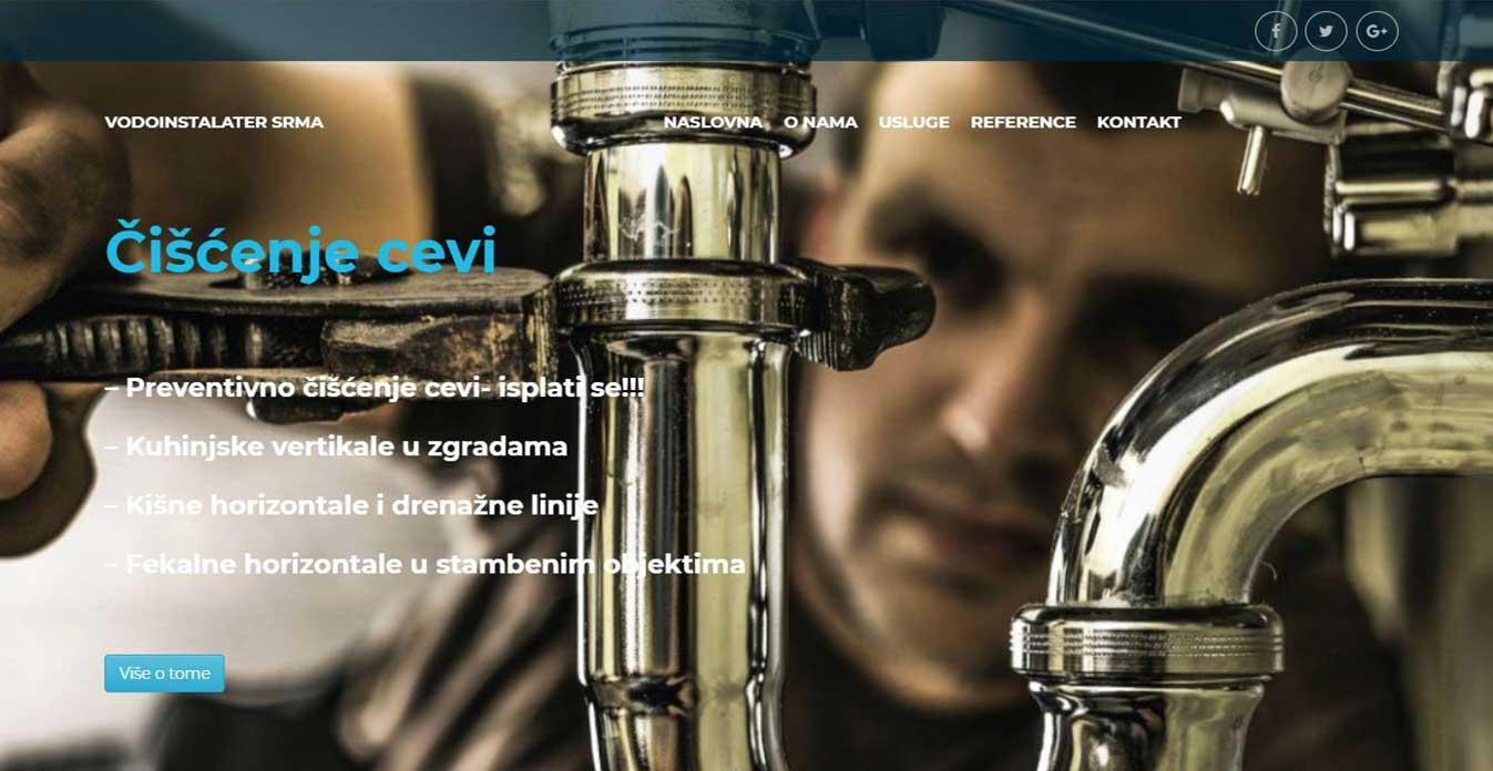 izrada sajta vodoinstalater kragujevac